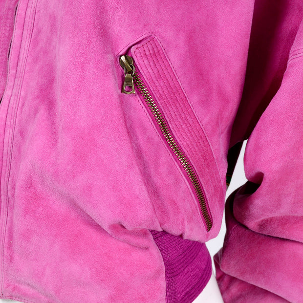 Gianni Versace Reversible Suede Silk bomber jacket Pockets