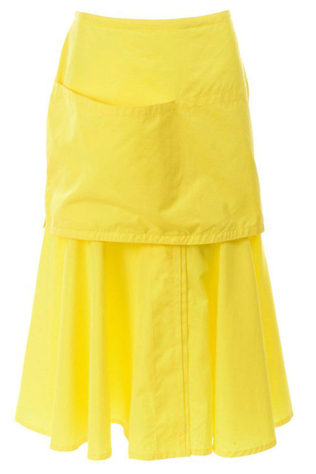 Versace yellow deadstock skirt w/ large pocket