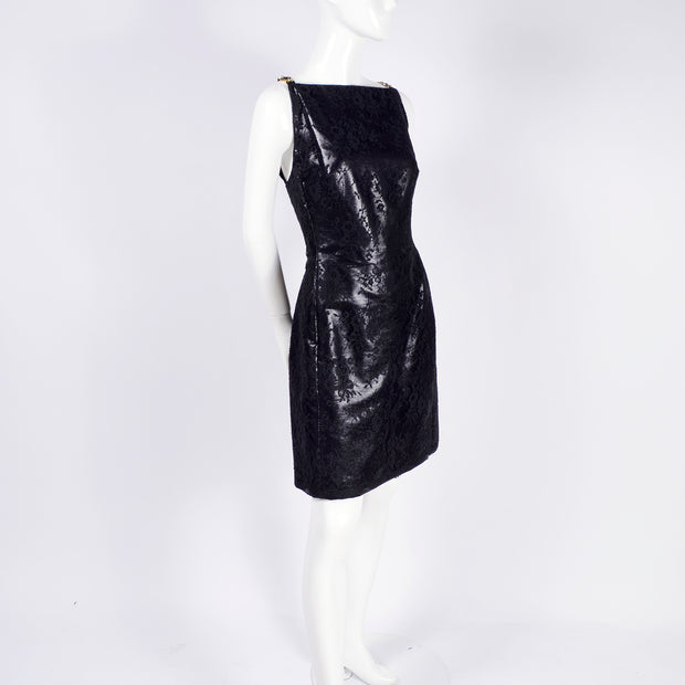 Vintage black Gianni Versace Couture 1990's dress deadstock