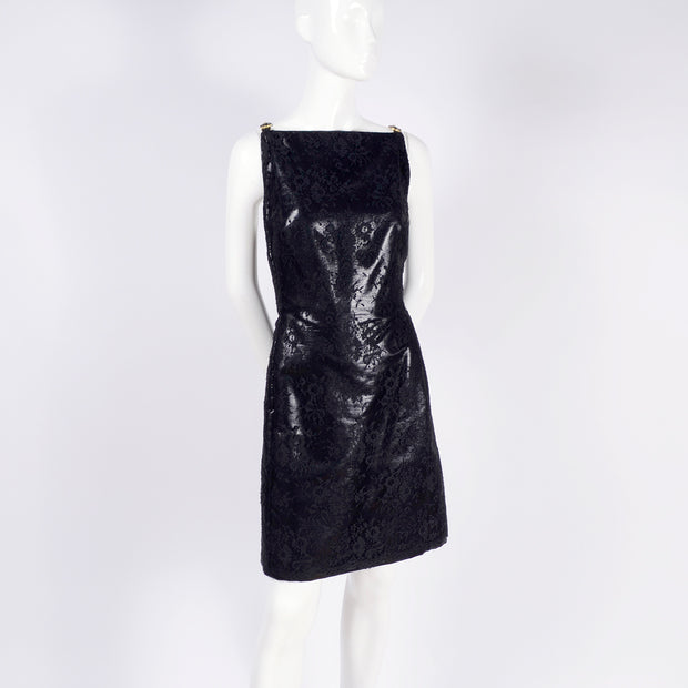 Deadstock Gianni Versace sleeveless lace black dress