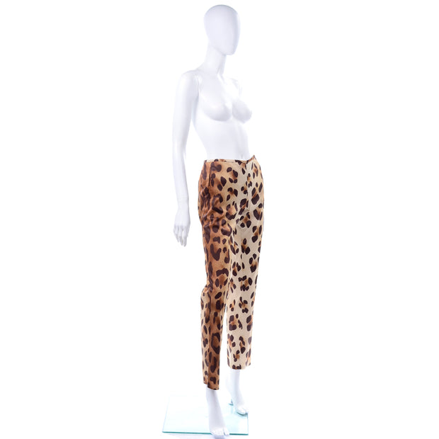 Gianni Versace Couture Vintage Ombre Animal Print Pants