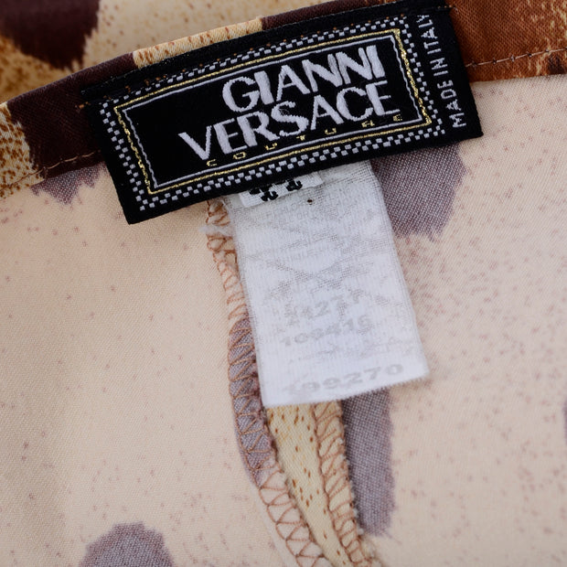 Gianni Versace Couture vintage leopard cheetah print pants Italy