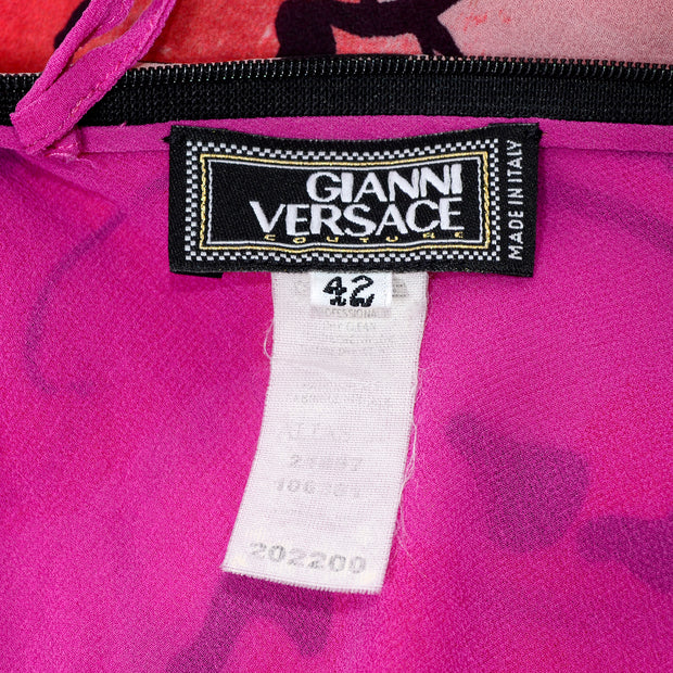 Gianni Versace Couture Reversible Suede Silk bomber jacket 42