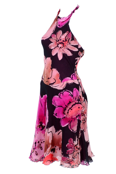 Floral Versace halter dress