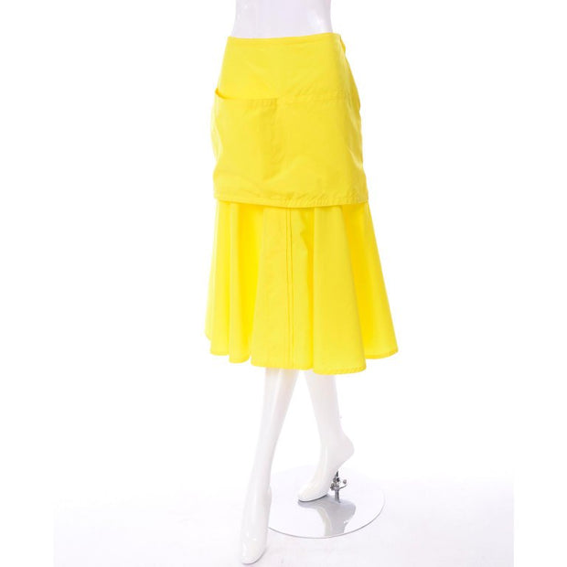Bright Yellow Gianni Versace Deadstock Skirt