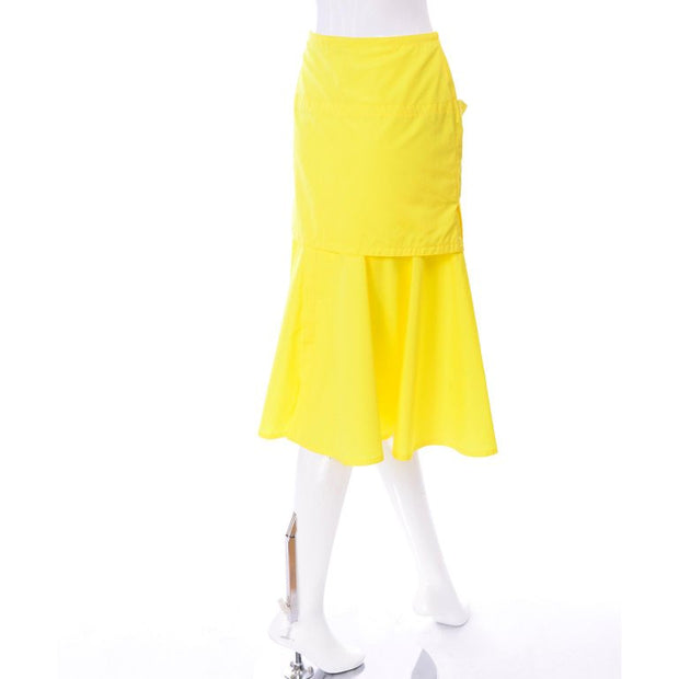 Layered yellow vintage Versace skirt