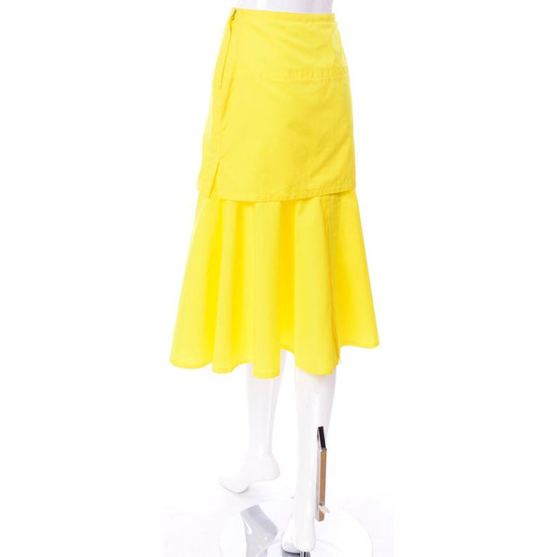 Gianni Versace layered skirt with large pocket