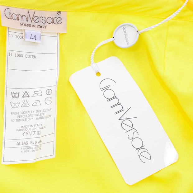 1980s Gianni Versace Yellow Skirt Deadstock NWT