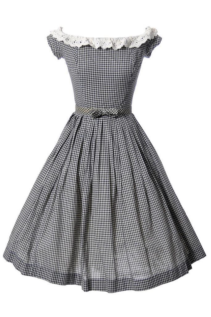 Black and white checked Gingham dress