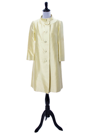 1960s Yellow Dress and Coat by Gino Rossi - Dressing Vintage