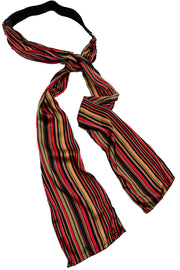 Giorgia G. Colorful Striped Silk Scarf Belt