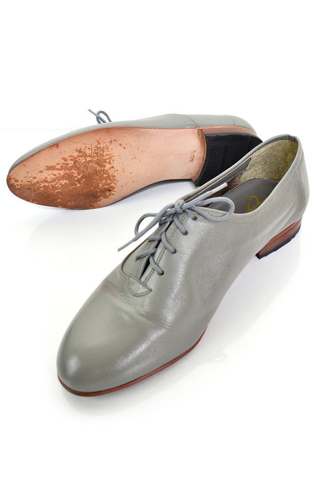 Georgio Brutini vintage grey leather oxford shoes