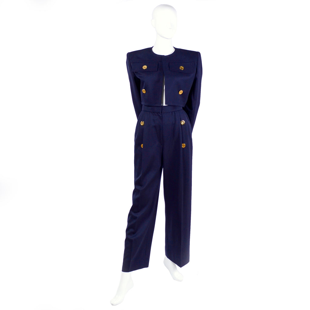 1980's nautical suit Givenchy