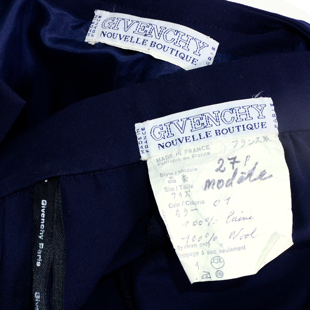 Givenchy Boutique Navy Wool Pantsuit