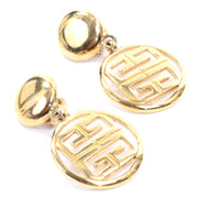 80s Givenchy Vintage Gold Drop Logo Earrings
