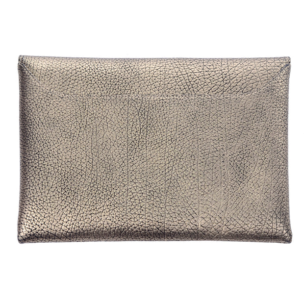 Givenchy bronze leather envelope clutch