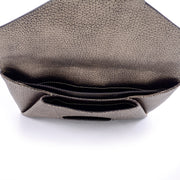 Givenchy metallic goat leather envelope clutch