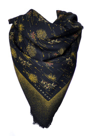 Givenchy vintage scarf novelty Hunt theme - Dressing Vintage