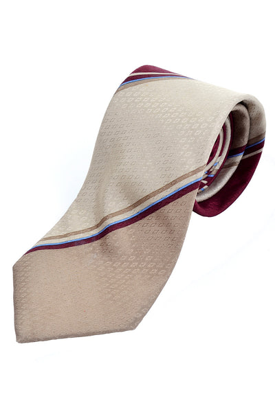 Givenchy striped vintage silk tie with diamond pattern