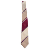 Tan and burgundy vintage striped Givenchy necktie