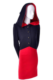 Givenchy 1980's Little Red Riding Hood Vintage Dress