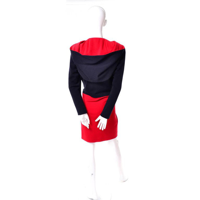 1980's Black Label Givenchy HC vintage hood dress