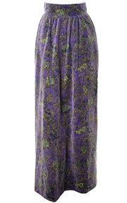 1970's Givenchy Purple Velvet Maxi Skirt and Top - Dressing Vintage