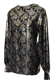 Metallic Gold Rose Blouse by Gloria Sachs New York