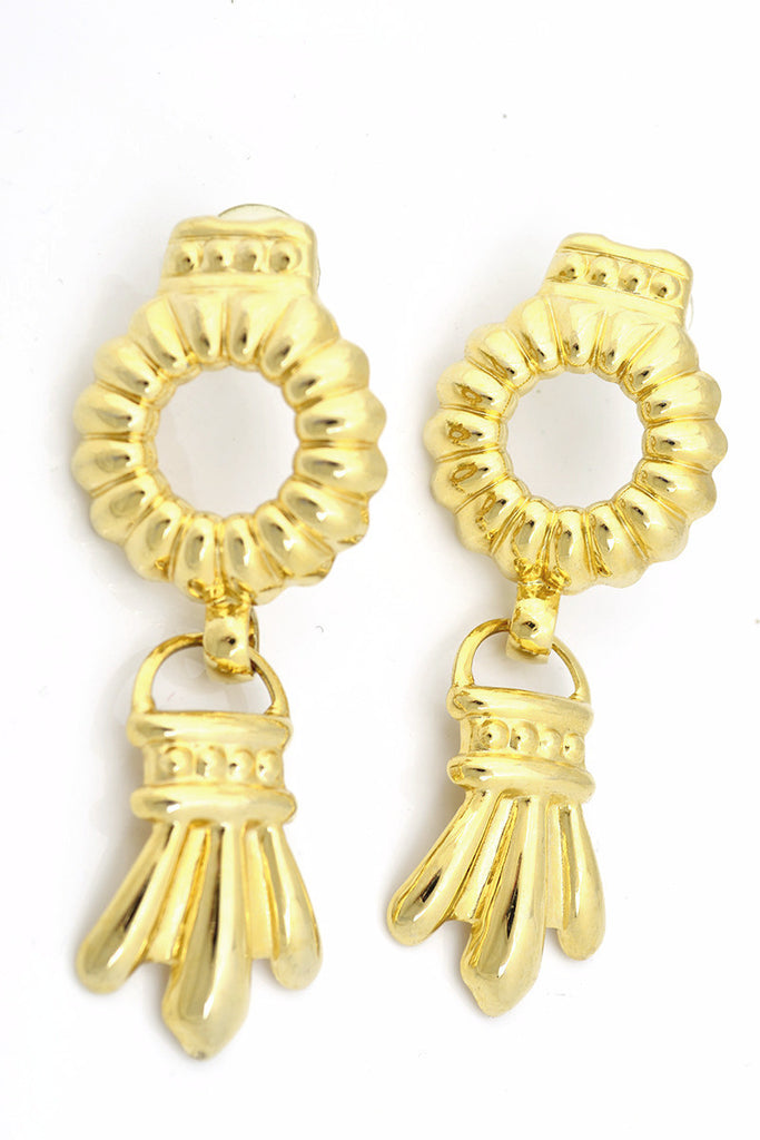 Vintage gold Door knocker earrings