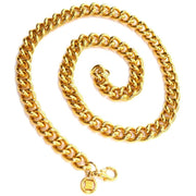 Stamped Givenchy logo thick gold chain necklace