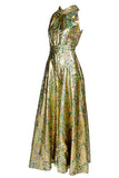 1960's Wide Leg Gold Jumpsuit
