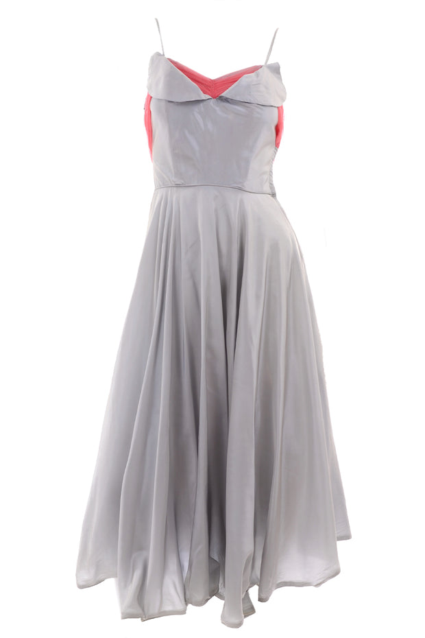 1960s Grey Party Dress
