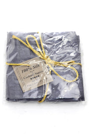 Grey Silk Vintage Cocktail Napkins