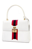 White Leather saddle girth Gucci Handbag