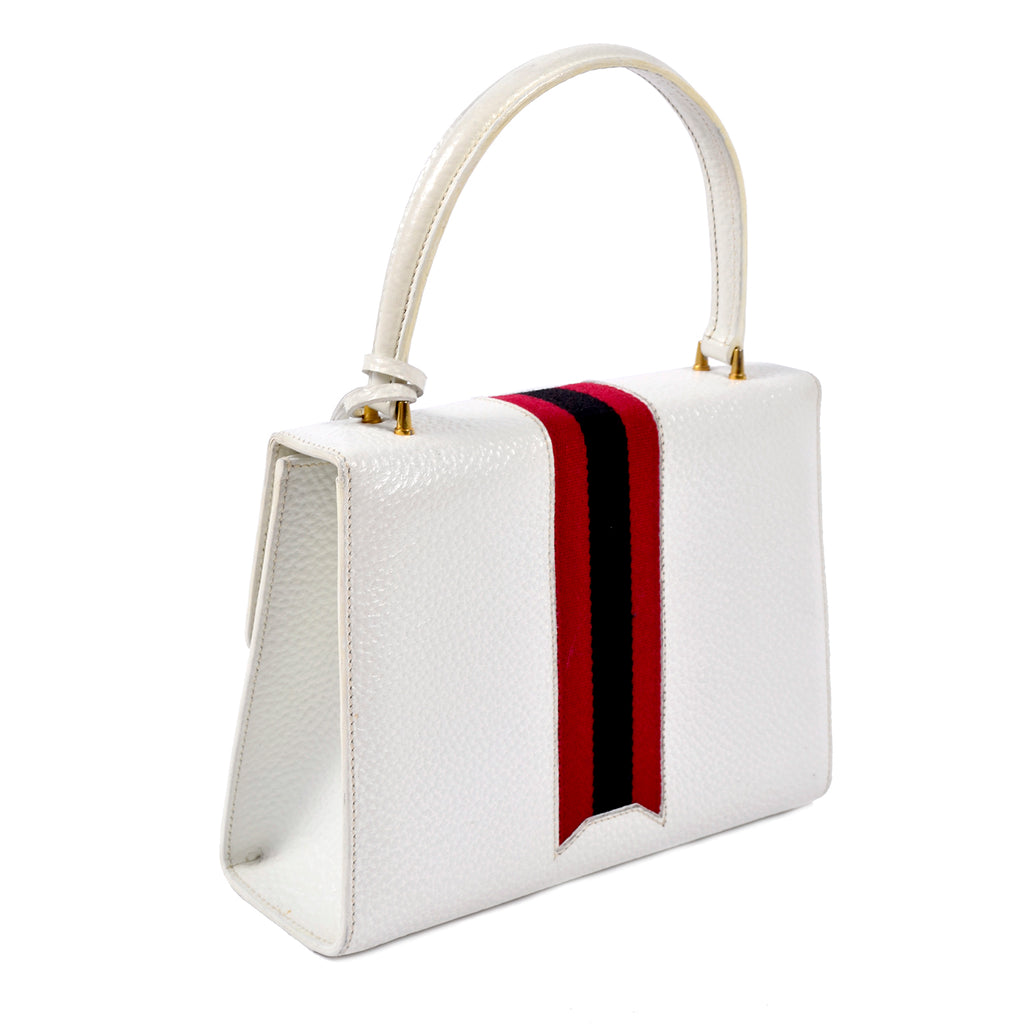 Vintage white Gucci leather handbag 1960s