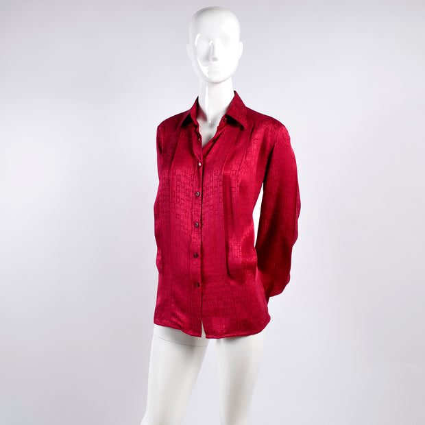 Red silk Gucci blouse