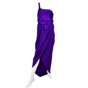 Vintage Purple Jersey Halston Dress Gown
