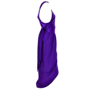 Purple Halston Vintage Dress Hi Lo