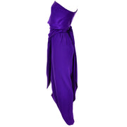 Halston Vintage Dress One Shoulder Purple