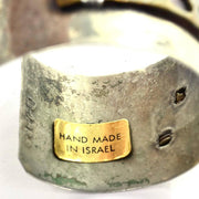 Lilla signed vintage mixed metal cuff bracelet made in Israel