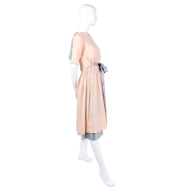 Vintage Harry Collins Dress with cape and pleated underskirt