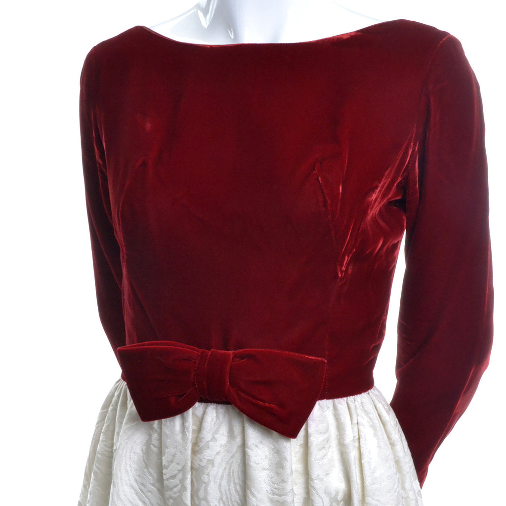 Harry Kaiser Velvet and Satin Jacquard Vintage Dress