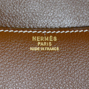 1980s Hermes Brown Leather Handbag w/ Horse bit Buckle in Box