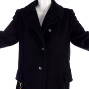 Black Hermes winter coat