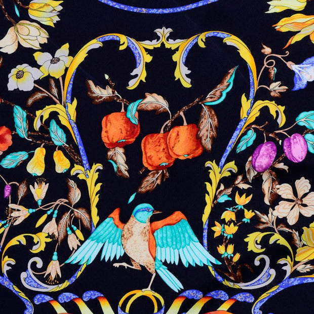 Hermes Pierres d'Orient et d'Occiden scarf with birds, flowers, berries