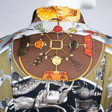 Reversible Hermes jacket with scarf print