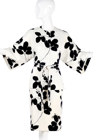 I. Magnin silk kimono top and matching silk skirt