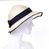 Private Listing I Magnin fine panama straw hat with ribbon - Dressing Vintage