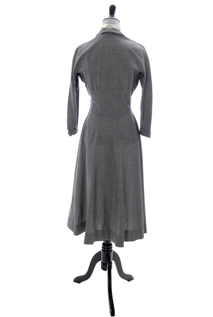 1950s vintage I Magning dress with dickie in black and white