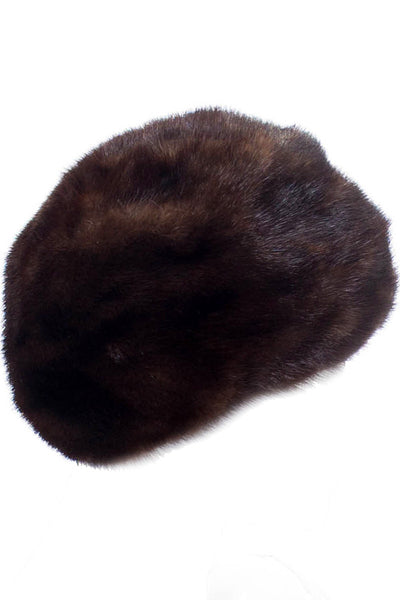 Vintage brown fur hat from I Magnin - mink perfection - Dressing Vintage